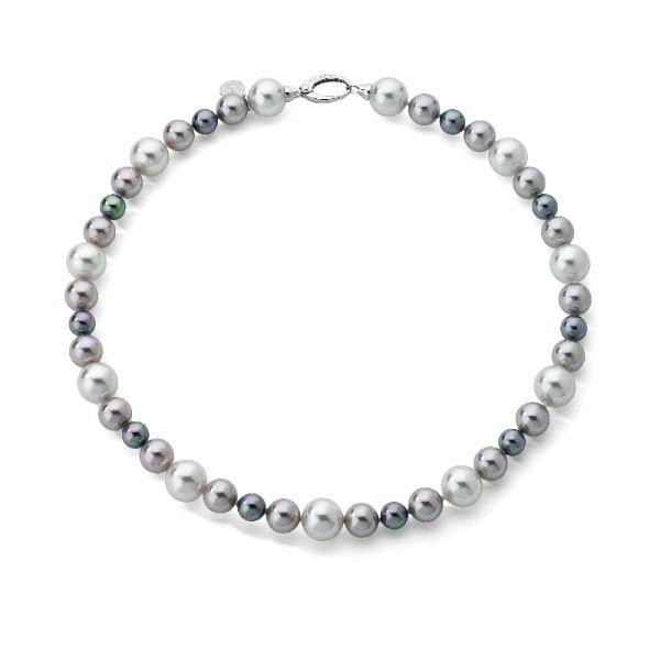 Collar multicolor con perlas escalonadas de Majorica