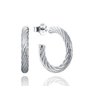Criollas tubular de plata diseño cable TREND