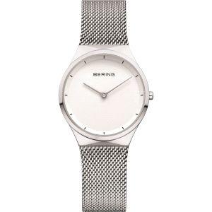 Reloj Señora blanco y malla milanesa