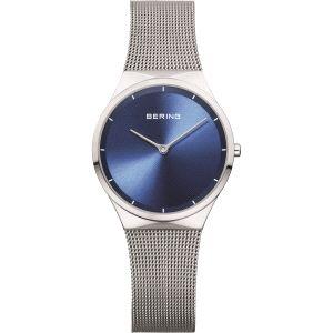 Reloj Señora esfera azul y malla milanesa