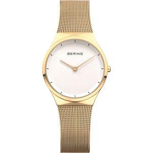 Reloj Señora dorado blanco y malla milanesa