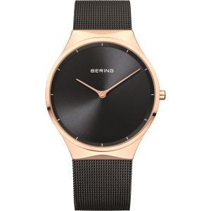 Reloj Unisex bicolor negro y milanesa