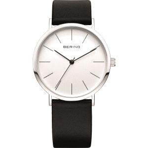 Reloj Cab. de piel con esfera blanca