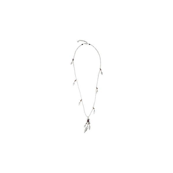 Collar -Picoteo- con fetiches plateado