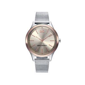 Reloj Mujer Shibuya esfera plata y rosada