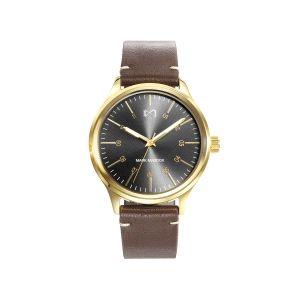 Reloj Hombre Village piel caja dorada