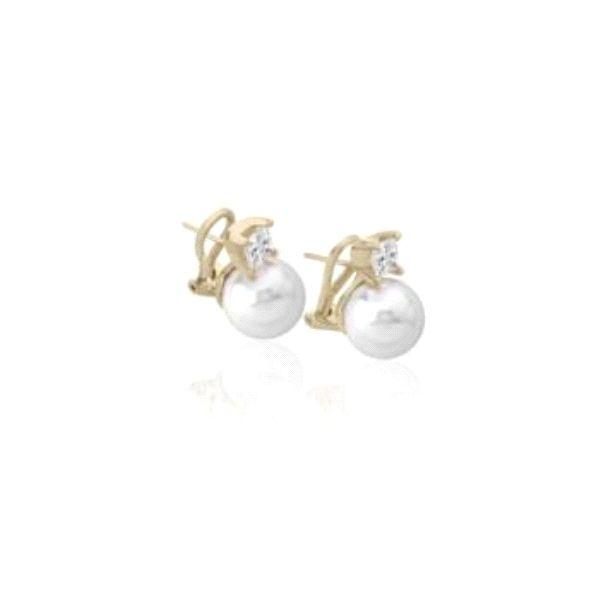 Tu y Yo omega plata dorada perla 12mm