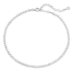 Collar Clásico de plata con perla blanca