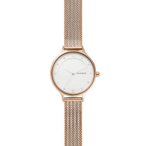 Reloj Mujer Anita pulsera malla bicolor