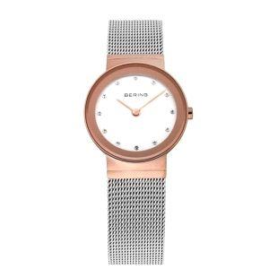 Reloj Unisex bicolor con malla milanesa