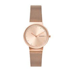 Reloj Mujer malla milanesa rosa- Annelie