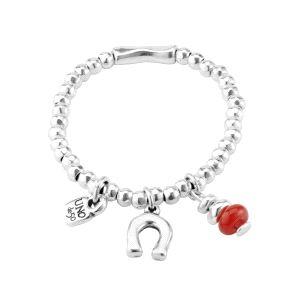 Pulsera mujer Amuleto con charm rojo