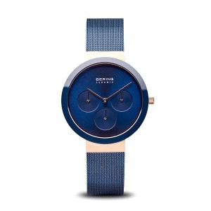 Reloj Mujer Ceramica azul de malla