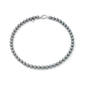 Collar Mujer de plata con perla gris