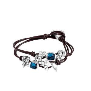 Pulsera mujer -Toro Azul- con swarovski