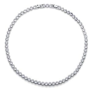 Collar Mujer Tennis rodio cristal