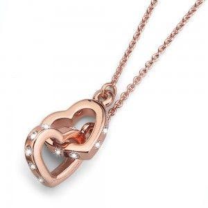 collar Fond Rosegold Crystal