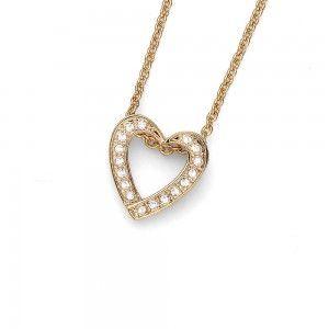 colgante Love Dorado Cristal