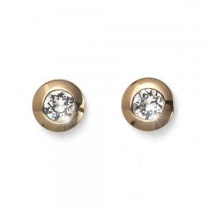 pendientes Diamond Dorado Cristal