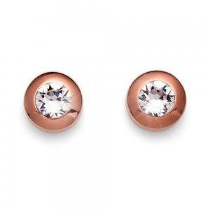 pendientes Diamond Rosegold Cristal