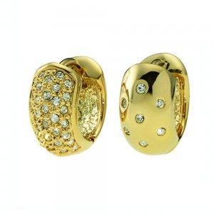 pendientes Double Dorado Cristal