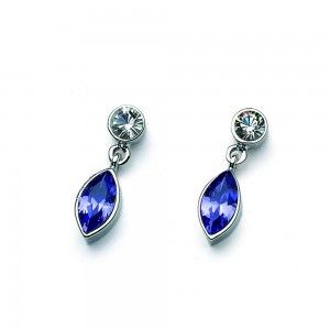pendientes Sort Rodio Tanzanite