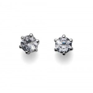 pendientes Brilli Small Rodio Cristal