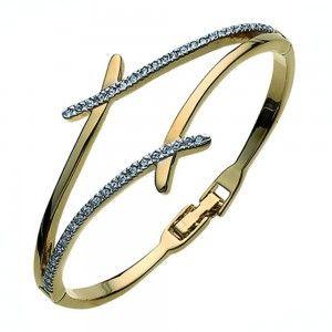 pulsera Divide Dorado Cristal