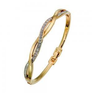 pulsera Weave Dorado Cristal