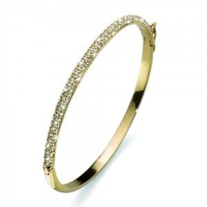 pulsera Brill Dorado Cristal
