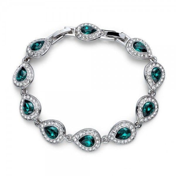pulsera Power Rodio Emerald