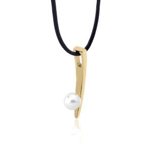 Gargantilla mujer Silfide dorado con perlas
