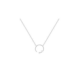Gargantilla mujer Vela de plata con circonita