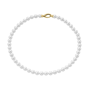 Collar mujer Lyra de perlas blancas 8mm