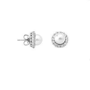 Pendientes Mood de plata con perla