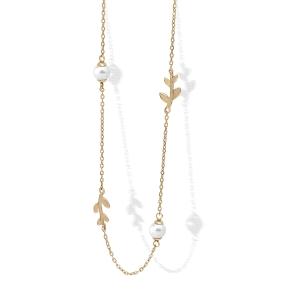 Gargantilla mujer Juliette dorado con perlas