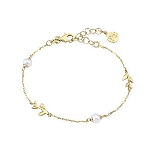 Pulsera mujer Juliette dorada con perlas