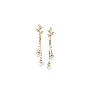 Pendientes mujer Juliette dorado con perlas