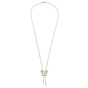 Gargantilla Danzarina de plata dorada y perlas