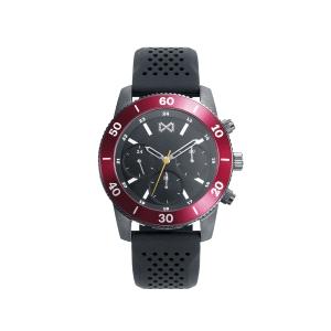Reloj Hombre Mission bicolor negro con silicona