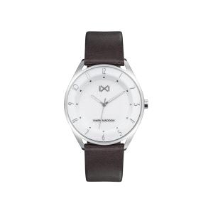 Reloj Hombre Venice blanco con correa marrón