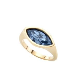 Anillo mujer Pop Eye dorado con cristal azul