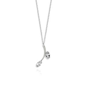 Gargantilla plata con cristal Swarovski