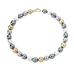 Collar Agora de perlas barrocas multicolor