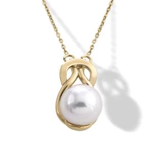 Colgante Vega de plata chapada y perla 12mm