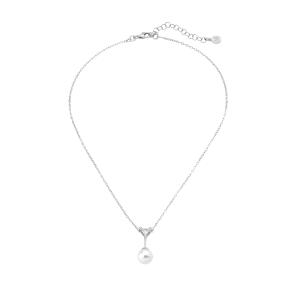 Gargantilla SATIS de plata con perla blanca