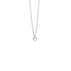 Colgante plata corazon cristal swarovski