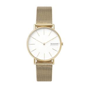 Reloj unisex SIGNATUR dorado de malla milanesa
