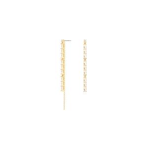 Pendientes IDRIS de plata dorada con circonitas