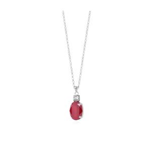 Colgante plata MIAH ROYAL RED con cristal